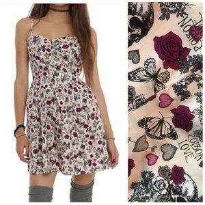 Hell Bunny Skull & Roses Poison Love Dress Size XL
